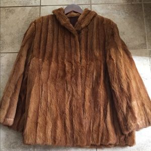 Unbranded Unsized Light Brown/Blonde Mink Coat